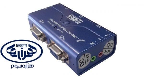 سوییچ KVM دو پورت USB کی نت پلاس مدل KPU622